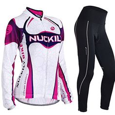 Nuckily Women's Cycling Long Sleeve Jersey Bike Bicycle Jersey Full Zip Sportswear - http://ridingjerseys.com/nuckily-womens-cycling-long-sleeve-jersey-bike-bicycle-jersey-full-zip-sportswear/