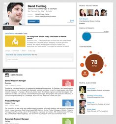 Profile Page from LinkedIn › PatternTap