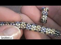 Tubular beadwork tutorial (Chenille Stitch): a simple idea for a tubular beadwork | Beading Tutorial