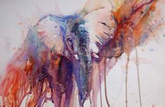The Magic of Watercolour Painting Virtual Gallery - Jean Haines, Artist - Elephants