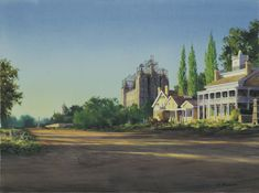 This painting depicts the Salt Lake Temple in the final year of construction, as viewed from South Temple. Utah Temples, Lds Temples, Salt Lake Temple, Lds Art, Church History, Salt Lake City, Art Images, Mansions, Fine Art