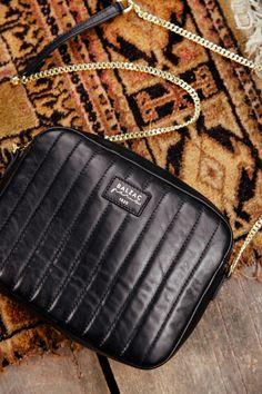 Sac César noir en cuir lisse - Balzac paris - 185€
