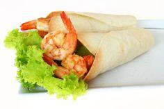 burritos wraps with shrimp and vegetables