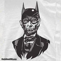The Caped Emancipator T-Shirt-Funny Abe Lincoln Batman shirt