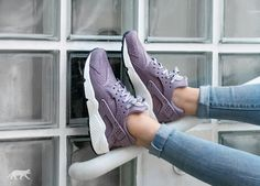 Nike Wmns Air Huarache Run Print (Purple Smoke / Purple Smoke - Sail)