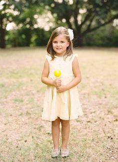 REVEL: Yellow Flower Girl Dress