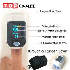 sale with pouch with setting alarmbeep fingertip pulse oximeter spo2 pulse rate oxygen monitor de #oxygen #saturation