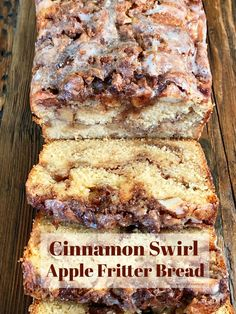 Apple Fritter Bread, Apple Bread, Apple Fritters, Apple Cinnamon Bread, Cinnamon Swirl Cake, Apple Butter Bread Recipe, Apple Loaf Cake, Cinnamon Cake Recipes, Coffee Cake Loaf