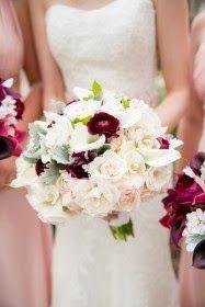Elegantes ramos de novias | Color blanco y Rosado
