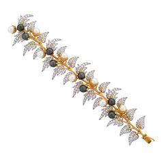 Tiffany & Co., Gold, Diamond & Pearl Bracelet Jean Schlumberger, circa 1964.
