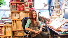 Julia in her Greenpoint studio