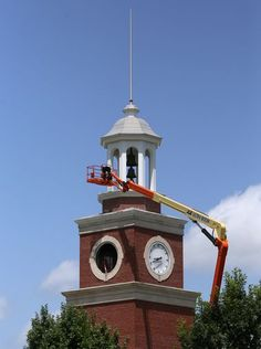 Installation of a carillon in Miller Tower on the campus