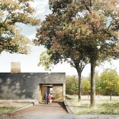Duggan Morris - Basel Cemetery by Forbes Massie, via Behance Architecture Sketchbook, Architecture Visualization, Chinese Architecture, 3d Visualization, Architecture Details, Landscape Architecture, Landscape Design, Big Architects, Famous Architects