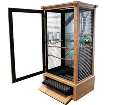 Majestic Bird Cages : x x Cockatoo cages, African Grey cage, toucan cages Bird Cage Design, Diy Bird Cage, Bird Cage Stand, Bird Cages, Wyandotte, Terrarium Reptile, Vogel Tattoo, Keramik Design, African Grey Parrot
