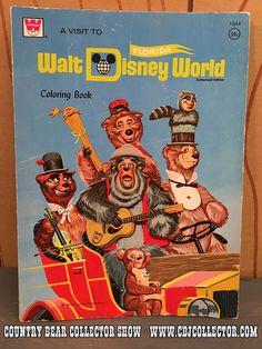 Vintage Whitman 1972 Walt Disney World Coloring Book – Country Bear Jamboree Collector Show Disney Rides, Disney Fun, Disney Stuff, Disney Pixar, Activity Books, Book Activities, Marc Davis, Oswald The Lucky Rabbit, Country Bears