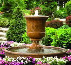 Cento Urn On Pool Estate Sized Fountain