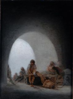 Goya y Lucientes, Francisco José de (Spanish painter and printmaker, 1746-1828) , Interior of a Prison