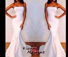 Sexy mermaid white prom dress,Slim Satin prom dresses, Formal evening dress zipper back, New arrival cheap prom dress, wedding dress,9070 on Etsy, $159.99