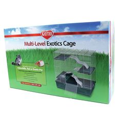 The Super Pet Kaytee Multi-Level Small Exotic Animal Cage is made to provide your small pets with safe and protective home. The cage helps your pets stay healthy and happy all the time. nnThe cage i Ferret Cage, Pet Cage, Rare Animals, Animals And Pets, Exotic Animals, Small Animal Cage, Degu, Rabbit Cages, Puppy Care