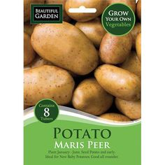 Grow your own Maris Peer Seed Potato 8 Pack Baby Potatoes, Grow Your Own, Amazing Gardens, Yum Yum, New Baby Products, Pots, Seeds, Easter, Gardening