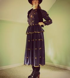 Diamond mountain vintage dress. blue sheer by WhatsOliviaWearing, $65.00