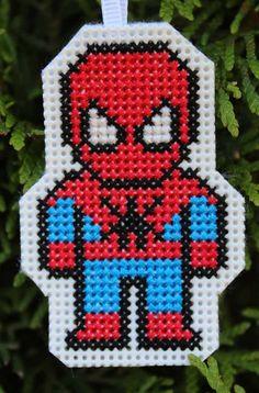 Handmade Spiderman Cross Stitch Ornament