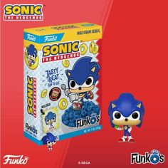 Sonic the Hedgehog Funko Pop Cereal Will Go Fast. Funko Pop Figures, Pop Vinyl Figures, Hedgehog Movie, Sonic The Hedgehog, Acrylic Nails Coffin Pink, Lego Sculptures, Sonic Funny, Super Mario Art, Sonic Fan Characters