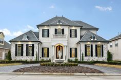 European House Plan with 4 Bedrooms and Baths - Plan 7526 Luxury Homes Exterior, Luxury Modern Homes, Home Modern, Luxury Homes Dream Houses, Luxury House Plans, Dream House Exterior, Dream House Plans, Dream Homes, Luxury Home Designs