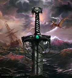 Book cover. The Sea Stone Sword, by Joel Cornah.