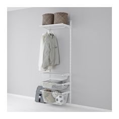 IKEA - ALGOT, Wall upright/mesh baskets, The parts in the ALGOT series can be combined in many different ways and easily adapted to your needs and space.Can also be used in bathrooms and other damp indoor areas.You click the brackets into the ALGOT wall uprights wherever you want to have a shelf or accessory – no tools needed.