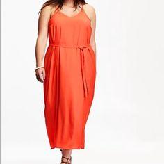 orange melon 💖sale💖maxi dress by liz lange nwt | coral color