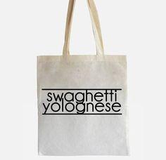 "Jutebeutel ""Swaghetti Yolognese"" // tote bag by Circular via DaWanda.com"