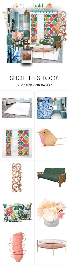 """""""spring home #32"""" by azadeh007 ❤ liked on Polyvore featuring interior, interiors, interior design, home, home decor, interior decorating, Arden Loft, NOVICA, Epic Furnishings and Côte Noire"""