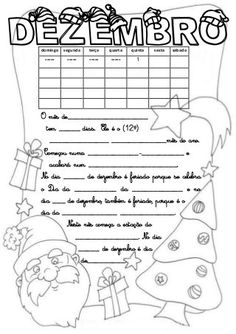 Calendário do mês de dezembro (2016) Printable Planner, My Children, Social Studies, Diy And Crafts, Homeschool, Notebook, Bullet Journal, Teaching, Education