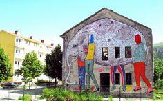 Mural in Mostar