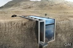 崖っぷちではなく崖の中に家を建てるという発想