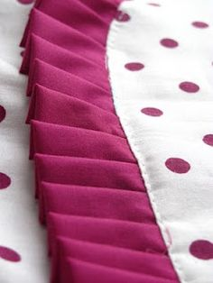 Pin-free Pleats!  Nice tip on how to sew pleats as you go, no pinning or marking needed.