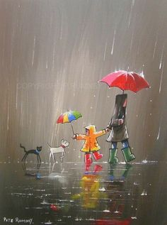 Quotes Discover Cute rain art by Pete Rumney Street Art Busy Street Rain Street Rain Art Umbrella Art Umbrella Painting Walking In The Rain Acrylic Art Dog Art Art And Illustration, Art Mignon, Rain Art, Umbrella Art, Umbrella Painting, Inspiration Art, Acrylic Art, Dog Art, Cute Art