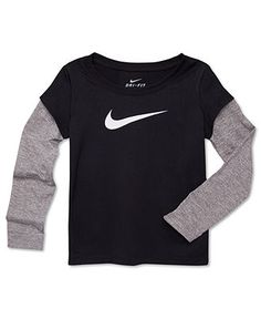 Nike Kids T-Shirt, Little Boys Legend Layered Tee - Kids Boys - Macy's Toddler Boy Outfits, Cute Outfits For Kids, Baby Boy Fashion, Kids Fashion, Boy Clothing, Clothes, Small Wardrobe, Nike Kids, Baby Shirts