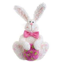 "RAZ Imports - 15"" Sitting Hydrangea Bunny"