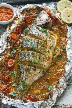 Whole Roast Sea Bass #seafoodrecipes