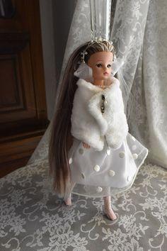 Net Stockings, Fur Cape, Sindy Doll, White Velvet, Lace Headbands, Cotton Velvet, Lining Fabric, 1950s Fashion, Handmade Clothes