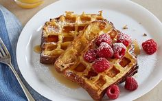 Waffled Brioche French Toast Recipe by Food Network Kitchens : Food Network UK