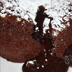 Chocolate Souffle Cakes on BigOven: Better than any restaurant molten chocolate cake you''ll ever have.