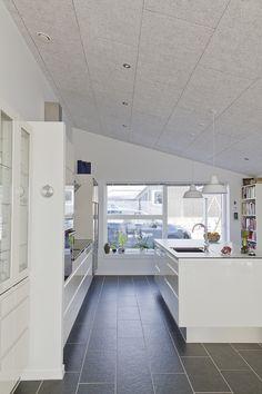 Troldtekt privatbolig Langeland Acoustic Wall Panels, Loft, Cabinet, Interior Design, Architecture, Bed, Kitchen, Inspiration, Furniture