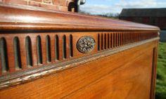 Antique Vintage Edwardian mahogany double bed 1910