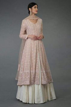 Lucknowi Anarkali Lehenga Suit - All About Clothes Indian Gowns Dresses, Indian Fashion Dresses, Dress Indian Style, Indian Dresses For Women, Pakistani Dress Design, Pakistani Outfits, Fashion Designer, Designer Dresses, Designer Anarkali Dresses