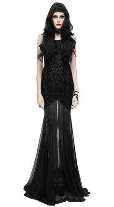 ... Longue robe noire transparente broderie et ailes en tissus elegant Vous  aimez     New product do you like   Prix  104.90  new  nouveau   japanattitude ... c8401bfa8e4