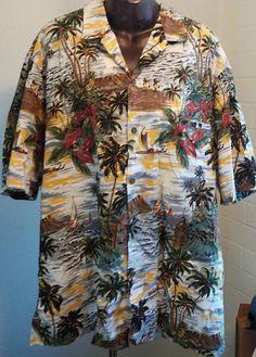 YANJK Mens Shirt Short Sleeve Casual Fashion Slim Print Shirt Hawaii Beach Shirt