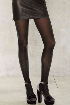 Walk in the Spark Lurex Tights | Shop Accessories at Nasty Gal!
